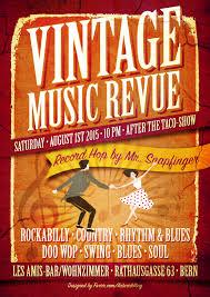 Bar Wohnzimmer Les Amis Flyer Vintage Music Revue 1 8 2015 Mr Snapfinger