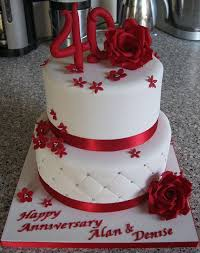 ruby wedding cakes 13 best cakes anniversaries images on anniversary
