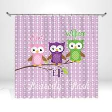 Owl Shower Curtains Custom Personalized Shared Shower Curtains Featuring By Redbeauty