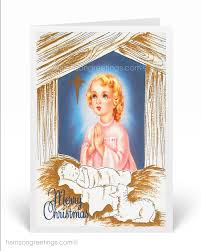 vintage religious christmas custom invitations and announcements