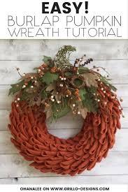 wreath easy 10 steps to making a petal burlap pumpkin wreath u2022 grillo