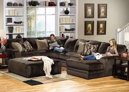 pictures of family rooms with sectionals kick back and relax on this 3 piece sectional with plush cushioning