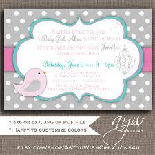 baby shower invitation invitation bird baby shower