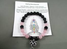 rose quartz stone bracelet images Lava stone rose quartz essential oil diffuser heart pendant JPG