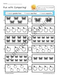 Compare Numbers Worksheet Best Number Sense Worksheets For Kindergarten Ideas Worksheets