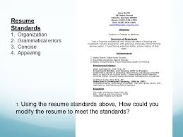 Modify Resume Resume Building And Job Interview Mr Slusher Employment Job