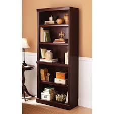 Revolving Bookcase Ikea Amazon Com 5 Shelf Cherry Bookcase Wooden Book Case Storage