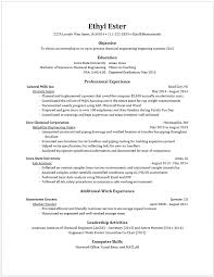 Laboratory Skills Resume Example Resumes U2022 Engineering Career Services U2022 Iowa State University