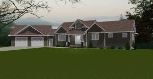 Split Ranch Floor Plans Original Style Of Angled Ranch House Plans For Small Design U Hahnow