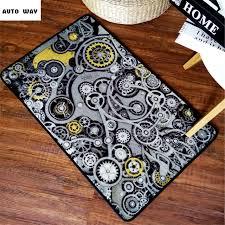 tappeto disegno stile industriale meccanico gear tappetini tappeto originale
