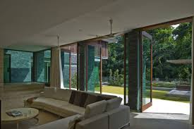 floor to ceiling glass doors architecture spacious 21 jervois hill house living room interior