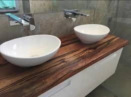Bath Vanity Top Custom Timber Bathroom Vanity Top By Retrograde Furniture