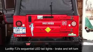 Jeep Tj Led Tail Lights Sequential Led Tail Lights Youtube