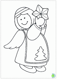 angel coloring christmas simple coloring
