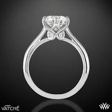 6 prong engagement ring 18k white gold vatche 191 swan solitaire engagement ring