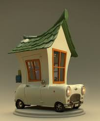 3d mini house on wheels animation project the rookies