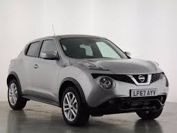 nissan juke 2017 silver used nissan juke silver for sale motors co uk