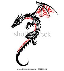 dragon tattoo stock vector 23726986 shutterstock