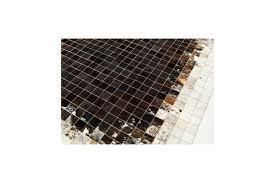 Patchwork Cowhide Rug K 1811 Dusty Brown Mosaic Cowhide Rug Fur Home
