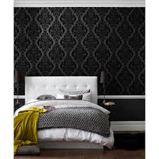 Wallpaper Home Interior Graham U0026 Brown Vintage Black Removable Wallpaper 50 223
