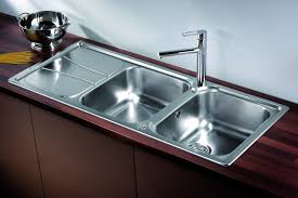 Stainless Steel Double Bowl Kitchen Sink Solutions Taps And - Kitchen sink double bowl double drainer