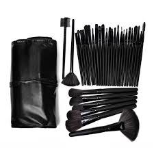 vander black pro 32pcs pouch bag case superior soft cosmetic