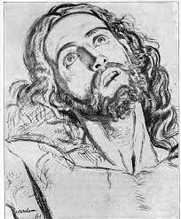 study for the head of christ by william holman hunt