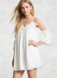 lace off shoulder short sleeve spaghetti strap dress oasap com