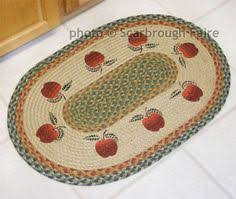Apple Kitchen Rugs Apple Basket Braided Rug Country Decor Primitive Rug 20