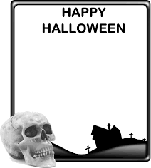 happy halloween free clip art skull and haunted house halloween frame free halloween vector