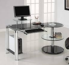 Simple Computer Desk Amusing Glass Corner Computer Desk Ikea 29 In Simple Design Decor