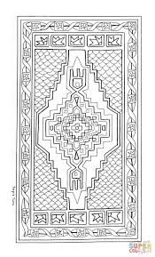 turkish rug mandala coloring page free printable coloring pages