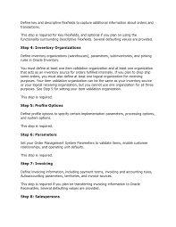 Sample Resume For Mechanical Production Engineer by Oracle Order Management Implementation Manual