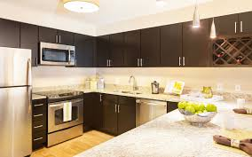 cherry espresso kitchen cabinets with stainless steel appliances