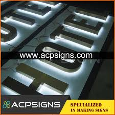 lighted sign letters outdoor use acrylic backlit letter acpsigns