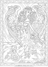 creative haven beautiful angels coloring book dover publications