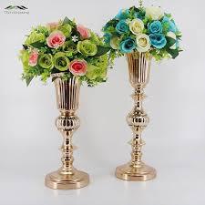 metal flowers 40cm gold tabletop vase metal wedding flower vase table