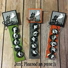 halloween sweet bags just pleased as punch video stampin u0027 up ghost chocolate treat