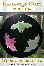 Halloween Craft Kids - halloween crafts for kids flying bats silhouette windows