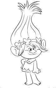 Coloriage princesse Poppy de Trolls à imprimer  color pages