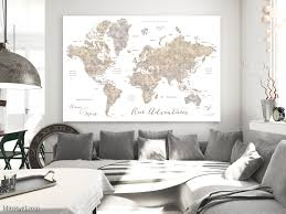 Personalized World Map by Making A Diy Travel Push Pin Map With One Of Blursbyai U0027s Printable