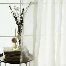 Crushed Sheer Voile Curtains by Amazon Com Best Home Fashion Wide Width Crushed Voile Sheer