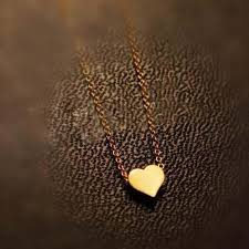 gold love pendant necklace images Hot popular 1pc simple design exquisite gold color chain heart jpg