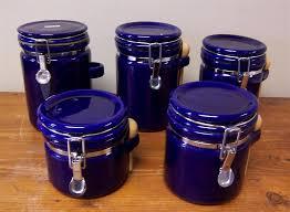 cobalt blue kitchen canisters m37auction com oggi cobalt blue canister set