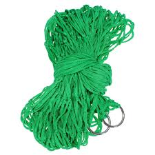 buy outdoor camping portable nylon swing hammock hang net sleeping