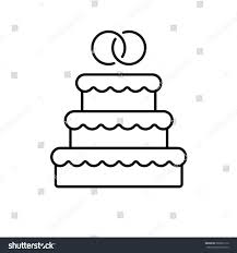 wedding cake outline wedding cake linear icon thin line stock vector 583692112