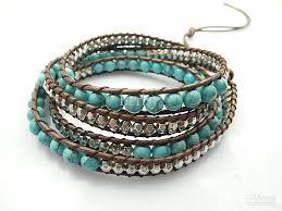 wrap bracelet with beads images 2016 6mm blue turquoise bead wrap bracelet new design handmade jpg