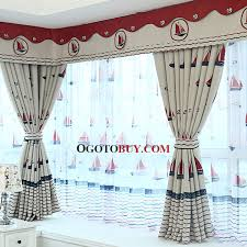 Window Curtains Sale Nautical Style Thick Polyester Insulated And Privacy Blackout Bay