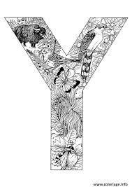 coloriage lettre y alphabet animaux dessin