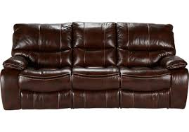 Leather Reclining Living Room Sets Brown Leather Reclining Sofa